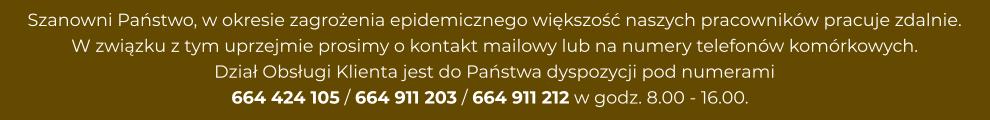 Dzial Obslugi Klienta jest do Panstwa dyspozycji
